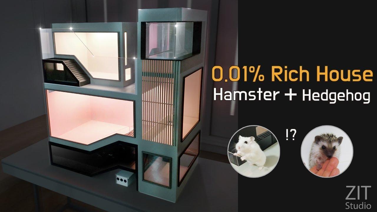 고슴도치 햄스터 3층 럭셔리 하우스 제작 / Making a luxury house for hedgehog and hamster