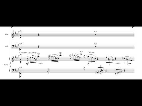 Astor Piazzolla - The Four Seasons of Buenos Aires for Piano Trio [Score-Video]