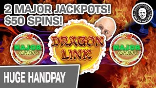 $50 Spins + TWO Major HIGH LIMIT Dragon Link Slot Jackpots