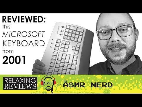 RELAXING REVIEWS | This Microsoft Keyboard From 2001 (ASMR)