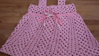 Repeat youtube video Crochet Vestidos para Niñas paso a paso