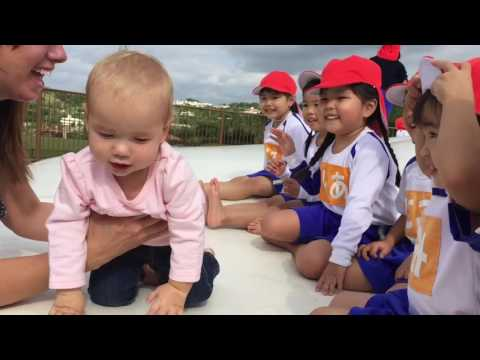 Adorable Japanese children meet cute American baby thumbnail