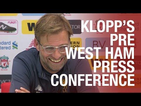 Jürgen Klopp's West Ham United press conference from Melwood