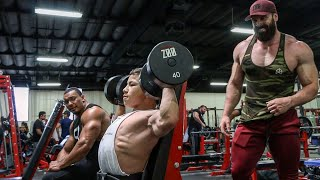 TRISTYN LEE TRAINS W/ BRADLEY MARTYN, LARRY WHEELS, AARON REED