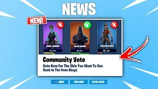 NEW FORTNITE ITEM SHOP VOTING SYSTEM LEAKED (OG SKINS RETURN) NEW COMMUNITY ITEM SHOP VOTING EVENT!