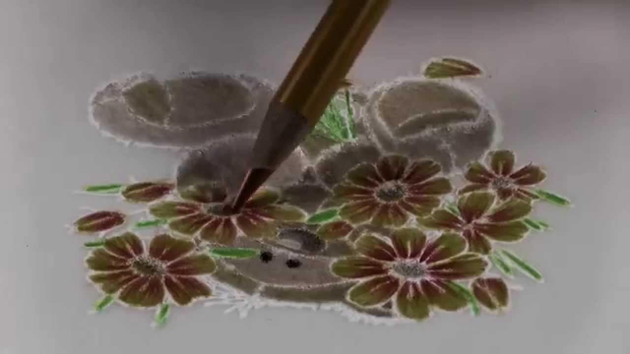 Flowers For You Colouring On Parchment Speed Painting Youtube
