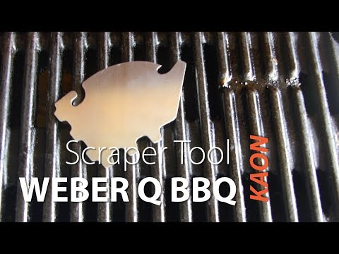 Grill cleaning tool accessory for Weber Q BBQ
