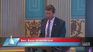 Sen. Hildenbrand speaks in support of SB 601