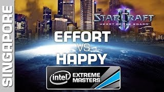Happy vs. EffOrt - Group B - IEM Singapore - StarCraft 2