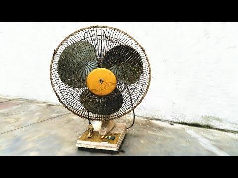 Restoration Vintage Table Fan Re