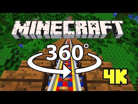 Minecraft [VR] 360° 4K 60 Fps – ROLLER COASTER | Jungle Rush