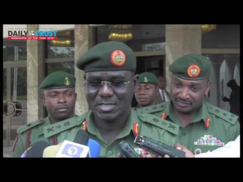 The president is happy with the Nigerian army and the military - Buratai