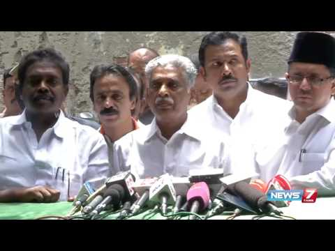 Congress, Indian Union Muslim league members boycott TN assembly | News7 Tamil