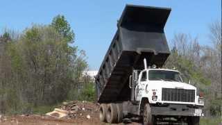 GMC Brigadier Dump Truck - Dumping Broken Concrete (HD)