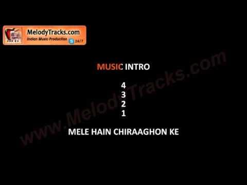 Mele hain chiraghone ke | VIDEO Karaoke | Lata Mangeshkar