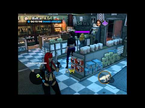 Saints Row The Third - Jumping Punching Glitching and Zombie Karaoke