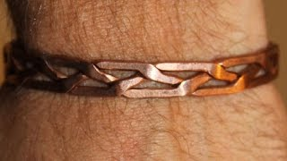 comment faire un bracelet en cuivre / Make a copper bracelet