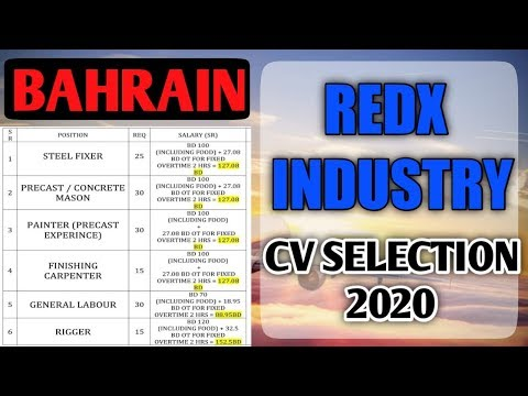Jobs In Bahrain 2020 || REDX Industry || Reputed Company || Gulf Job Requirement