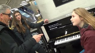 Teenage Girls Experience A New Style of Piano