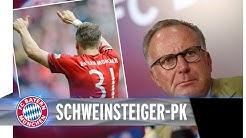 Pressekonferenz zu Schweinsteiger-Transfer
