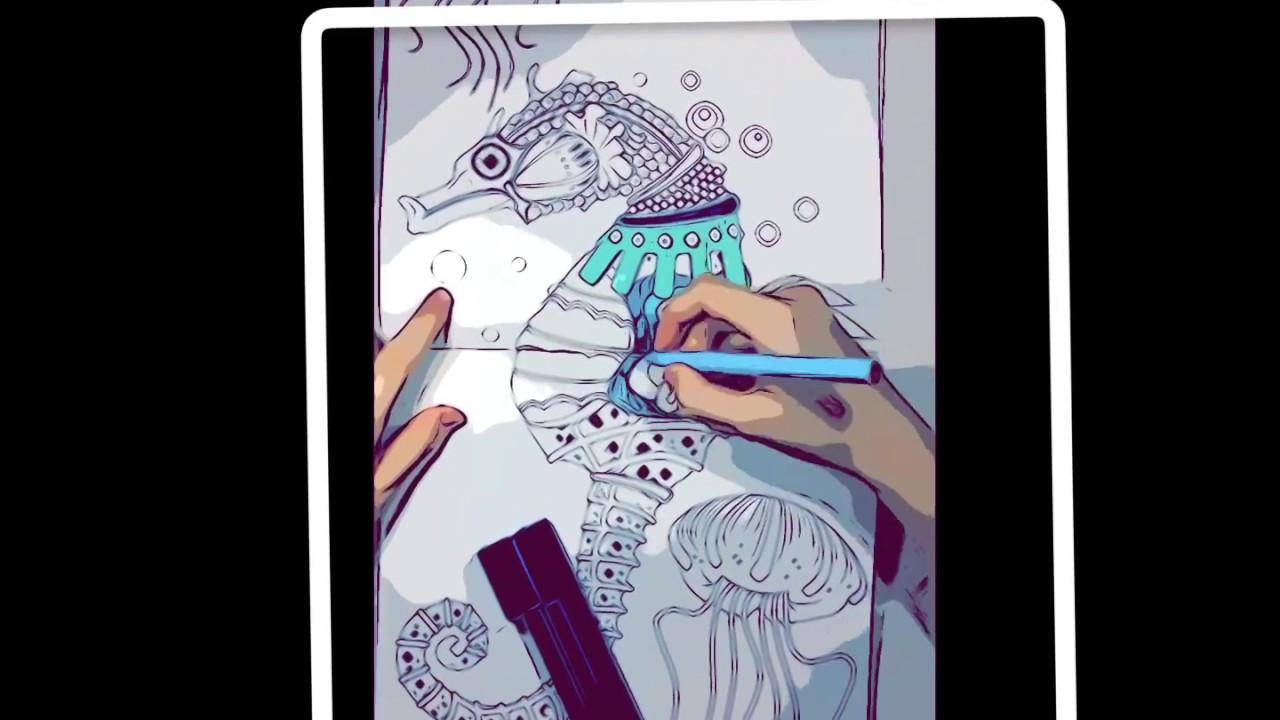 Seahorse Painting Denizatı Boyama Youtube