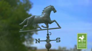 Good Directions 580v1 Horse Weathervane - Blue Verde Copper
