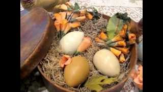 Antique Easter Bunny Table Display