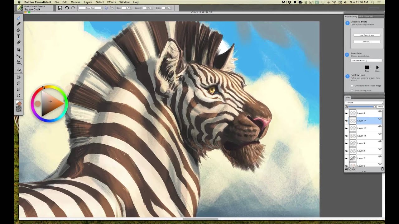 Using Digital Watercolors (with Corel Painter & Wacom ...