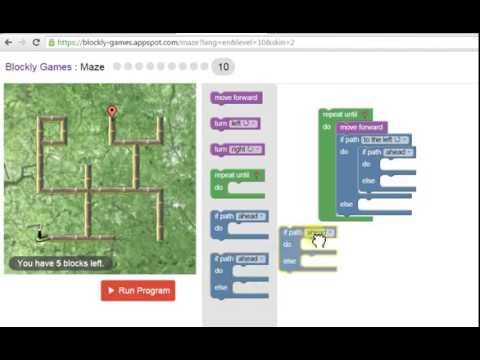 How to solve blockly maze level 10 - YouTube