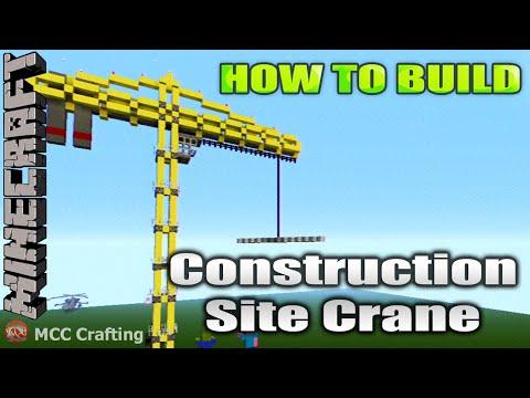 Minecraft how to build construction site crane tutorial for Crane tutorial