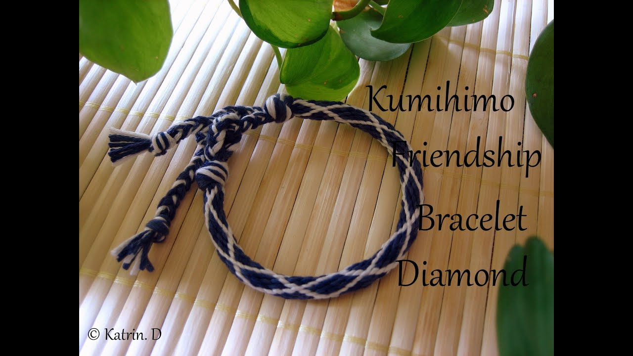 kumihimo friendship bracelet diamond youtube. Black Bedroom Furniture Sets. Home Design Ideas