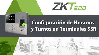 Configuración de Horarios y Turnos en Terminales SSR