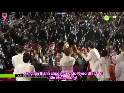 [AA VIETSUB] [101209] SNSD win Disk Daesang @ 25th Golden Disk Awards 2010