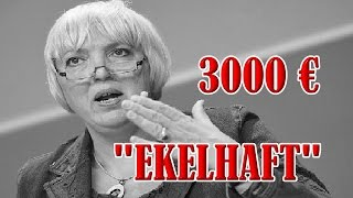 "3000 EURO FÜR ""EKELHAFTE"" CLAUDIA ROTH"