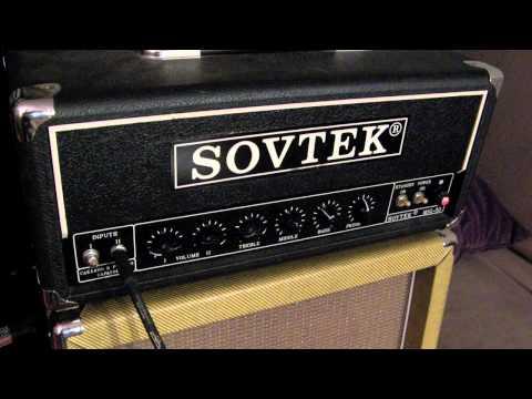 Cranked Sovtek MIG-50 amp with DeArmond M70 guitar