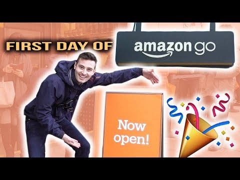 AMAZON GO STORE REVIEW!! (NO CASHIERS)