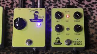 Lightning Boy Audio LB II High Voltage Tube Overdrive with CH2 Sidecar Module