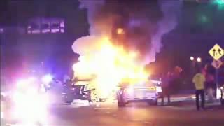 Полицейская погоня в Майами закончилась тройной аварией