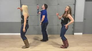 The Git Up Line Dance to Music