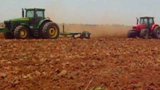 Tractors plowing in South Africa.AVI