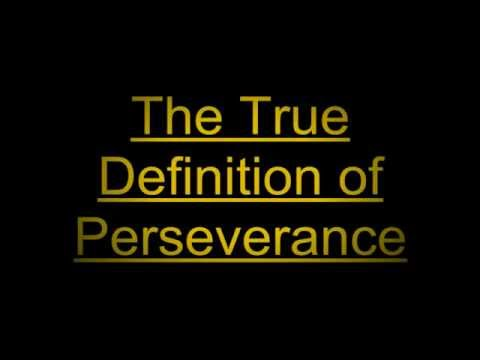 perseverance meaning