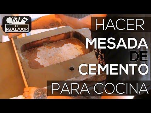 119 Hacer mesada de cemento para cocina - YouTube