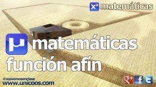 Funcion afin (y=mx+n) 02 SECUNDARIA (2º...