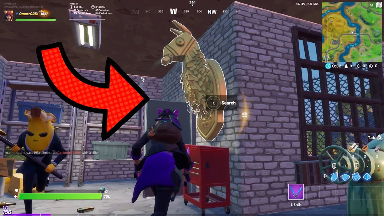 How To Get Golden Llamas In Fortnite Search Midas Golden Llama Chapter 2 Season 2 Fortnite Youtube