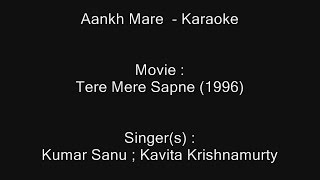 Aankh Mare - Karaoke - Tere Mere Sapne (1996) - Kumar Sanu ; Kavita Krishnamurty