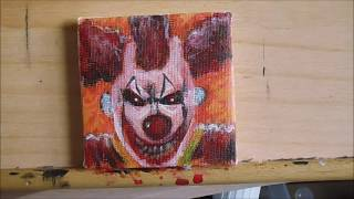 Micro Painting 31 Evil Clown Timelapse