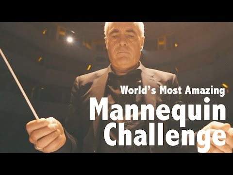 World First!! Qatar Philharmonic Orchestra do the Mannequin Challenge in style