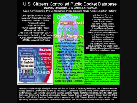 How Financially Devastated CPS Victims Get Class Action and Pro Se Litigation Referral