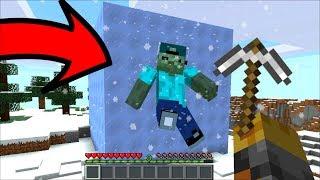 Minecraft MARK FRIENDLY ZOMBIE FROZEN INSIDE ICE BLOCKS MOD  SAVE MARK FRIENDLY ZOMBIE Minecraft