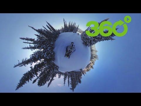 'El cuento de hadas de invierno': atravesando Siberia en una moto de nieve en 360º